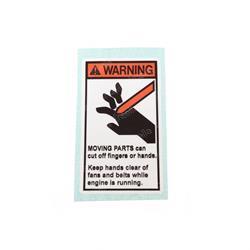 JLG 4107412 DECAL FAN WARNING