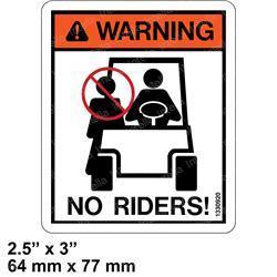 Forklift no rider decal HYSTER 1330920 sticker