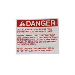 JLG 4103992 DECAL ELECTROCUTION