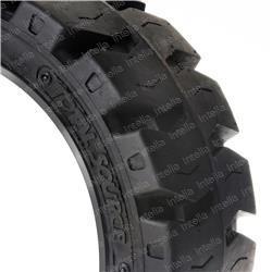 Premium Forklift Cushion Press-On Tire 16 x 5 x 10 1/2 16X5X101-2-BLK-SAT
