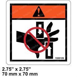 Yale 504231252 Label Danger Of Crushing
