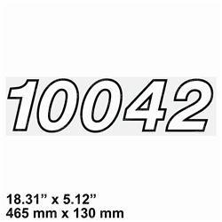 JLG 4110124 DECAL 10042 MODEL NUMBER